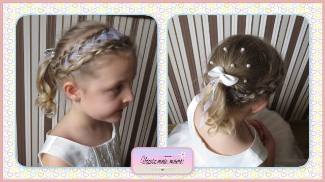 Fryzura Dla Dziewczynki Na Komunię Dwa Warkocze Holenderskie